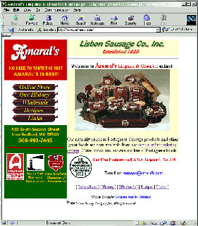 Amarals Linguicia  E-commerce and corporate site for Portuguese Sausage Manufacturer, including full backend e-commerce application and more.