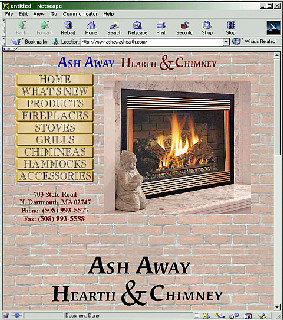Ash Away Hearth and Chimney  Website for retail store selling stoves, chimineas, and more with online catalog and administration function.