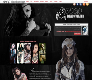 Gogo Blackwater  A full CMS (content management system) operates this site, giving the site operators control over adding articles, images, blog entries, and more. This site is mobile-friendly utilizing the latest in responsive design techniques.
