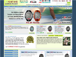 HeartRateMonitors.com  This Polar Heart Rate Monitor retailer has been our client for over 18 years! This site has undergone several rebuilds, keeping up with latest trends and technologies. It has a fully detailed product catalog, with many custom backend features supporting pricing tiers, discount pricing, and inventory management.