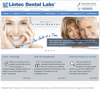 Lintec Dental  A small website build upon a CMS (content management system) allowing the site owner's to maintain and update the content. This site uses some responsive design techniques, providing for a better mobile user experience.