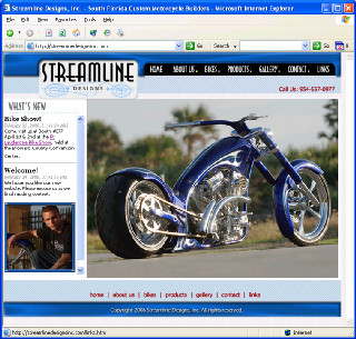 Streamline Designs, Inc.  Custom Motorcycle shop in South Florida