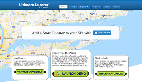 Ultimate Locator  Locator mapping SaaS solution for website owners.